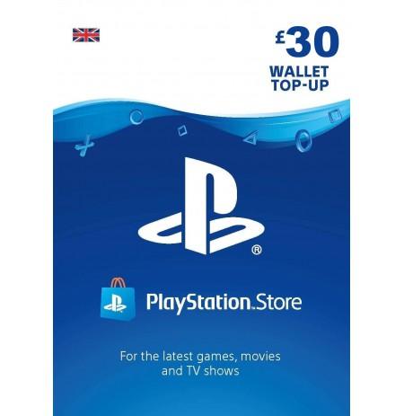 Playstation Network Card 30 GBP  (Jungtinė karalystė)