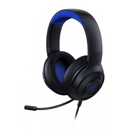 RAZER KRAKEN X FOR CONSOLE juodos-mėlynos laidinės ausinės su mikrofonu | 3.5mm