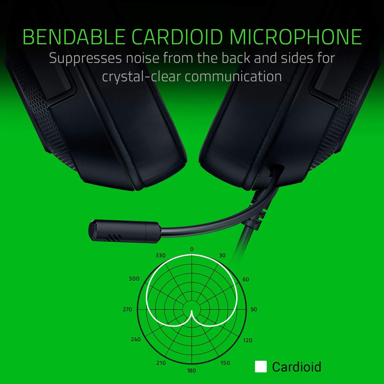 RAZER KRAKEN X Lite 7.1 juodos laidinės ausinės su mikrofonu   3.5mm