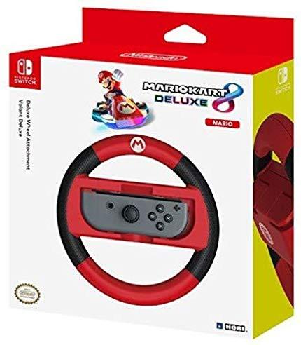 HORI Mario Kart 8 Deluxe Racing Wheel (Mario) for Nintendo Switch