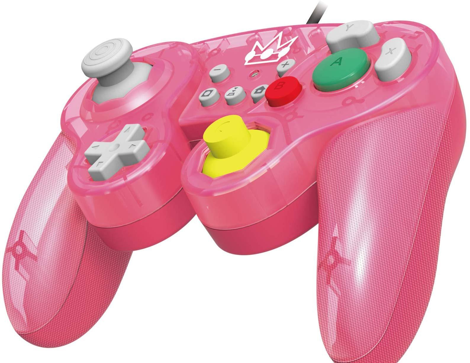 HORI Nintendo Switch Battle Pad (Princess Peach) GameCube Style Controller