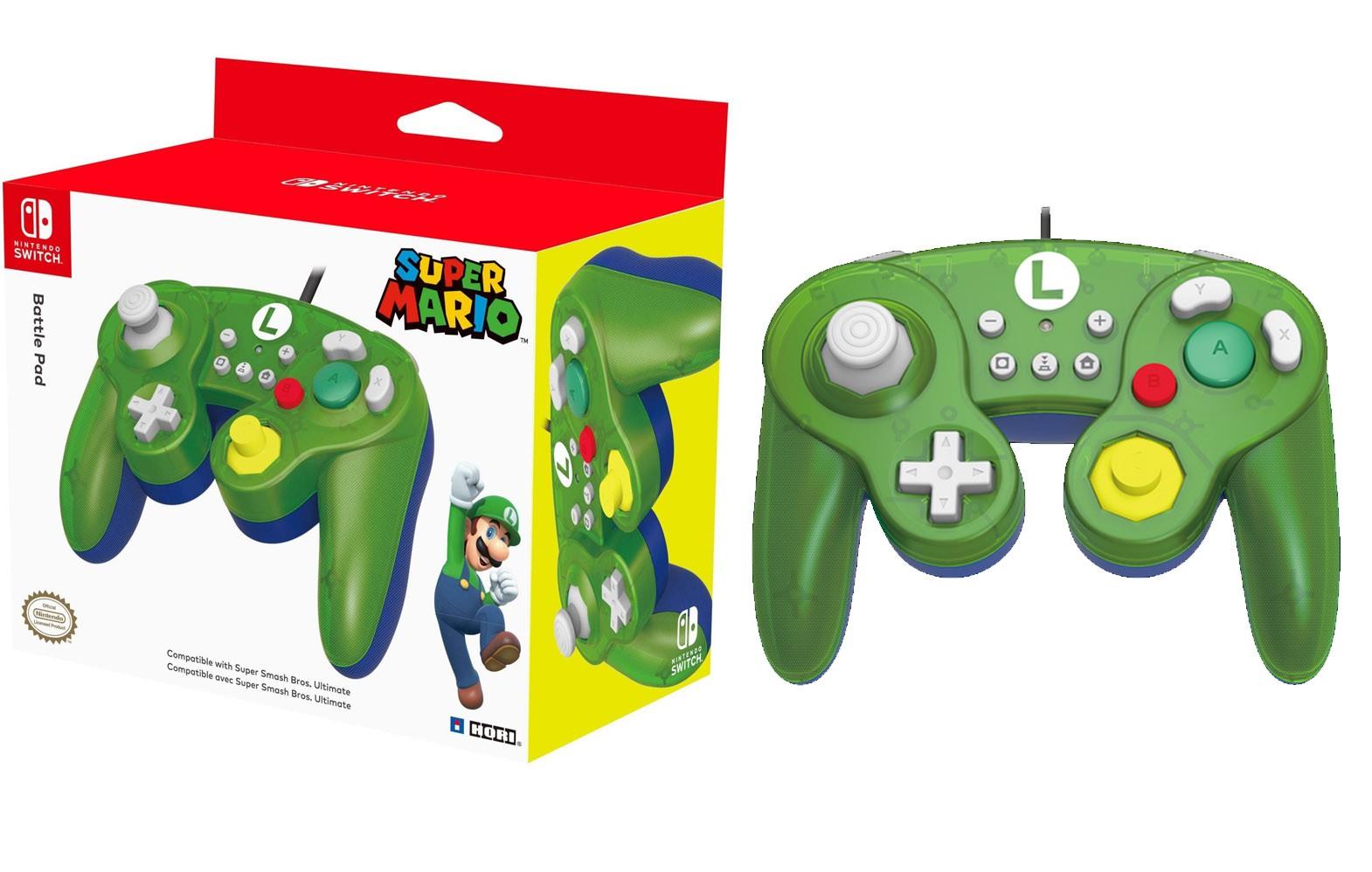 HORI Nintendo Switch Battle Pad (Luigi) GameCube Style Controller