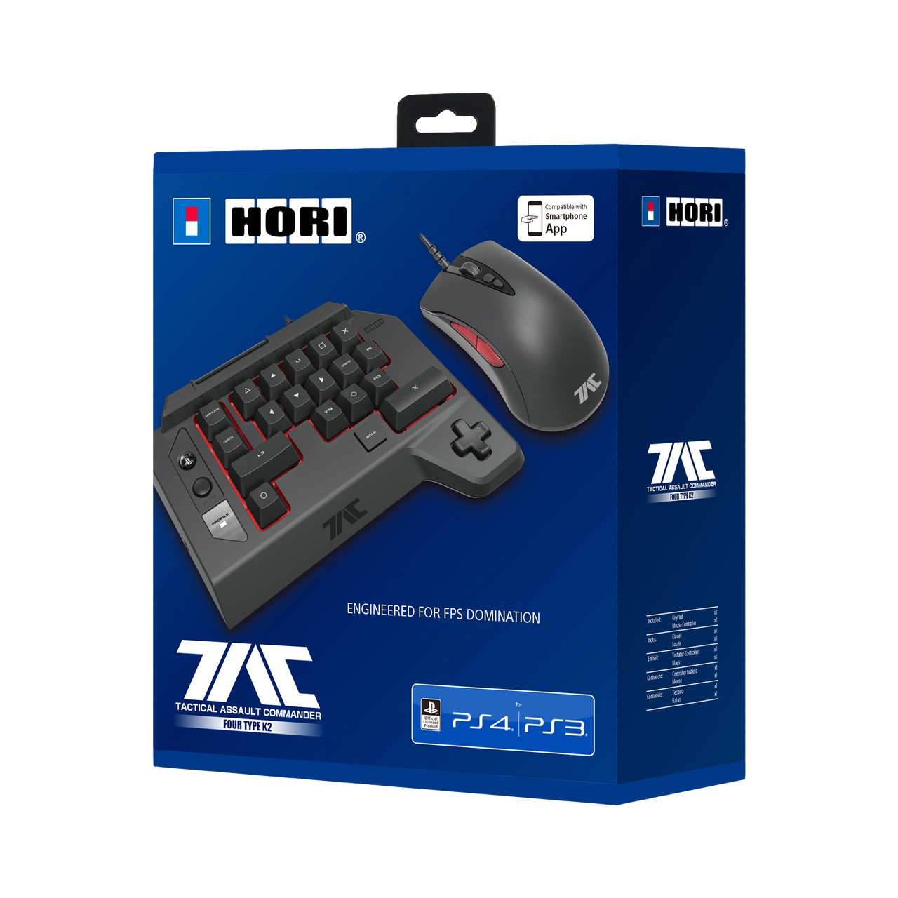 HORI T.A.C PRO TYPE M2 for Playstation 4/3 / PC