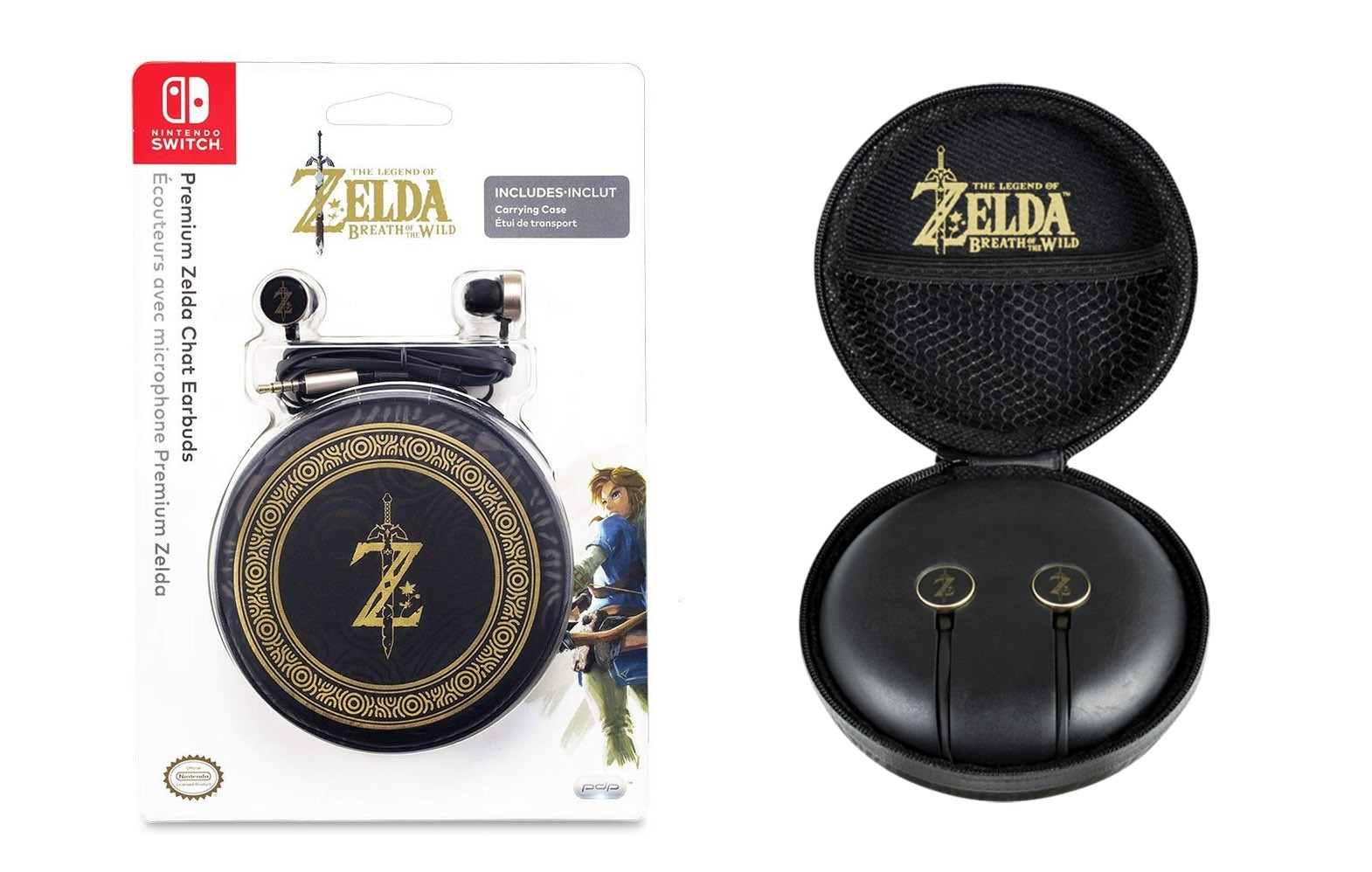 PDP Premium Zelda Chat Earbuds For Nintendo Switch