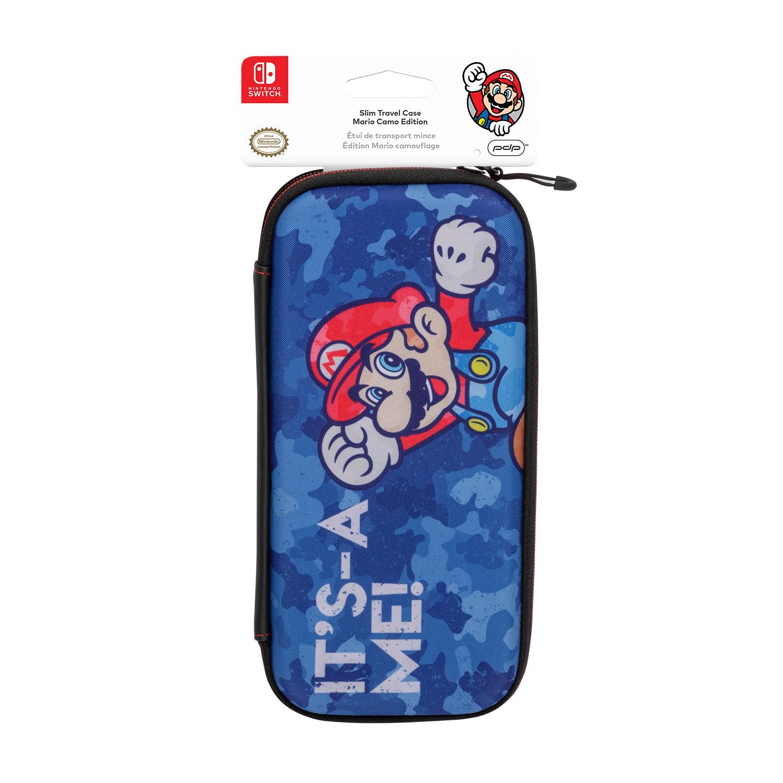 PDP Slim Travel Case - Mario Camo Edition For Nintendo Switch