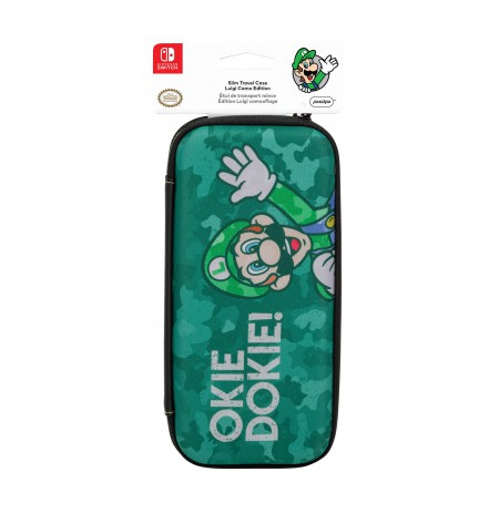 PDP Slim Travel Case - Luigi Camo Edition For Nintendo Switch