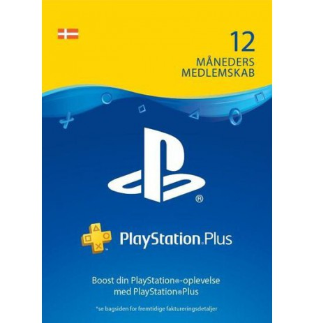 Playstation PLUS Card 365D (Danija)
