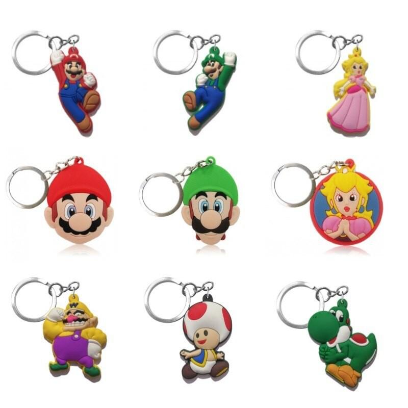 Mario rubber keychain