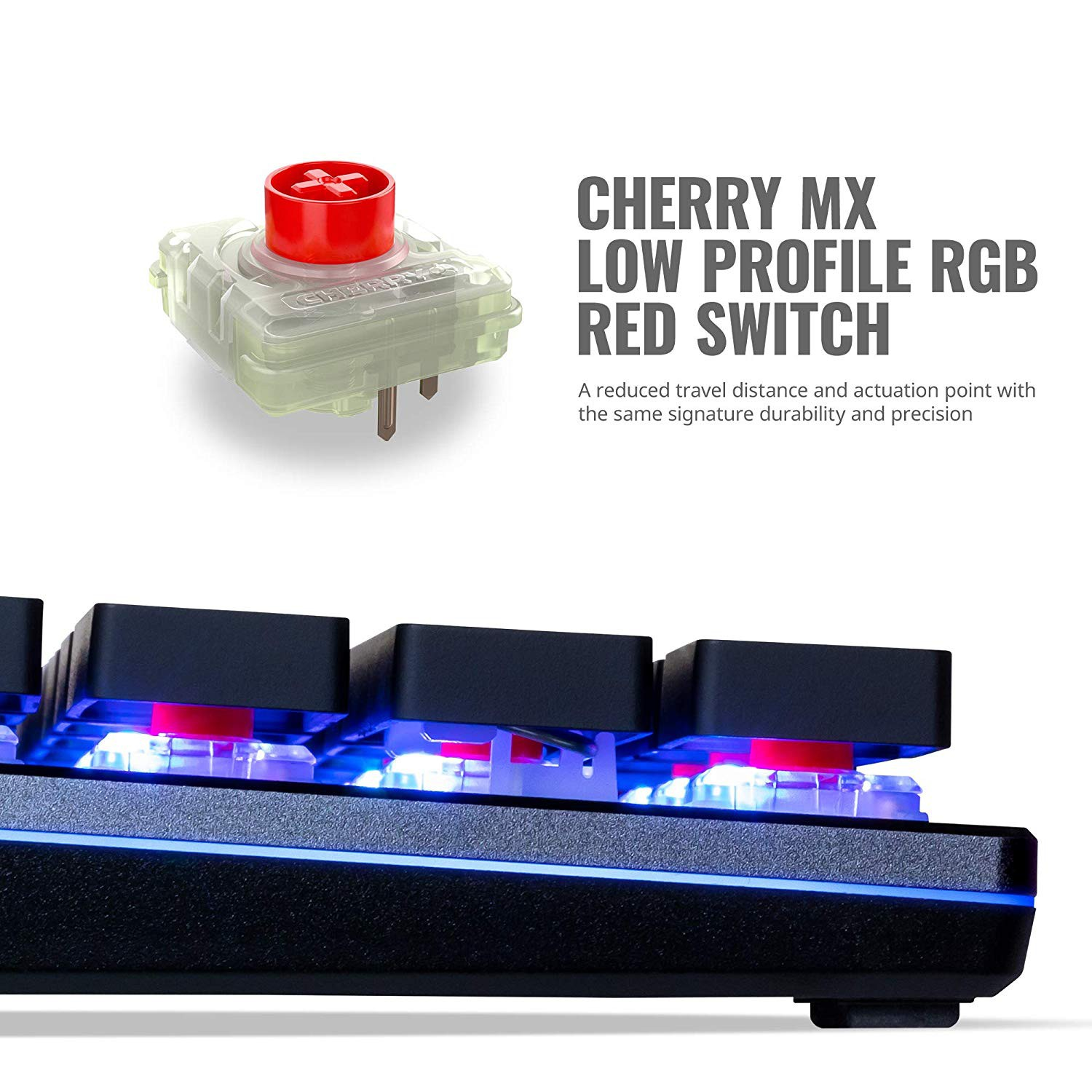 MECHANICAL GAMING KEYBOARD CM MK SK650 RGB BACKLIGHT CHERRY MX RED LOW PROFILE US LAYOUT