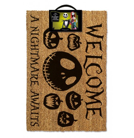 NIGHTMARE BEFORE CHRISTMAS - A NIGHTMARE AWAITS doormat | 60x40cm