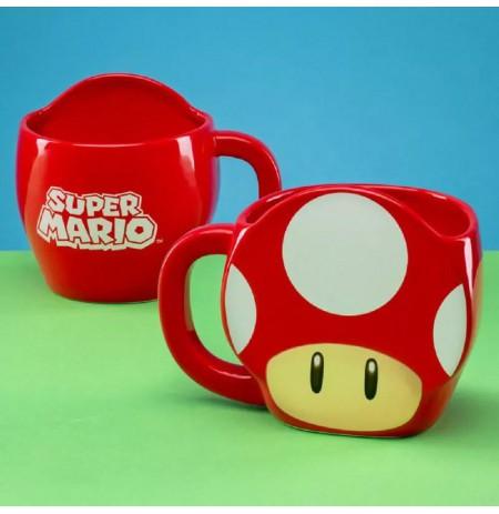 SUPER MARIO - SUPER MUSHROOM 3D 3D Mug