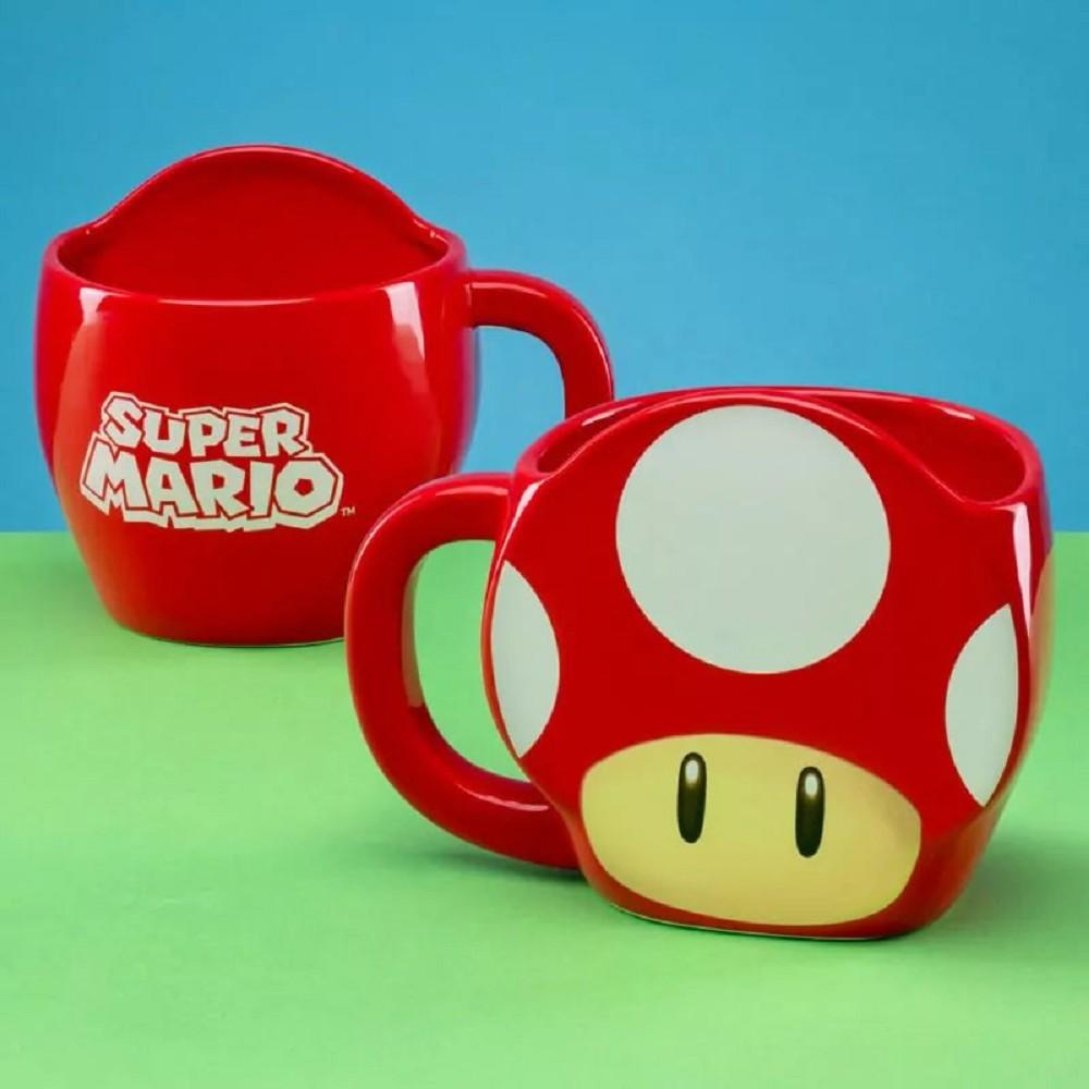 SUPER MARIO - SUPER MUSHROOM 3D puodukas