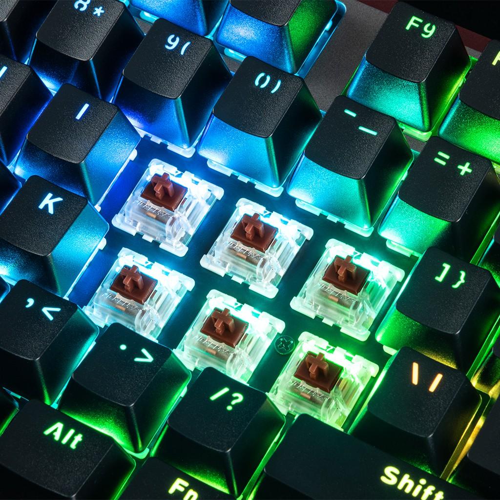 MODECOM VOLCANO LANPARTY V2 RGB GAMING KEYBOARD BROWN US
