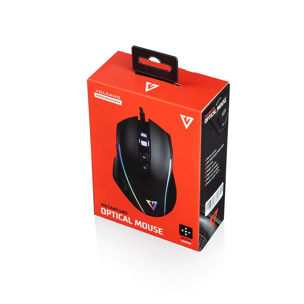 MODECOM VOLCANO MC-GM5 juoda laidinė optinė pelė | 3200 DPI