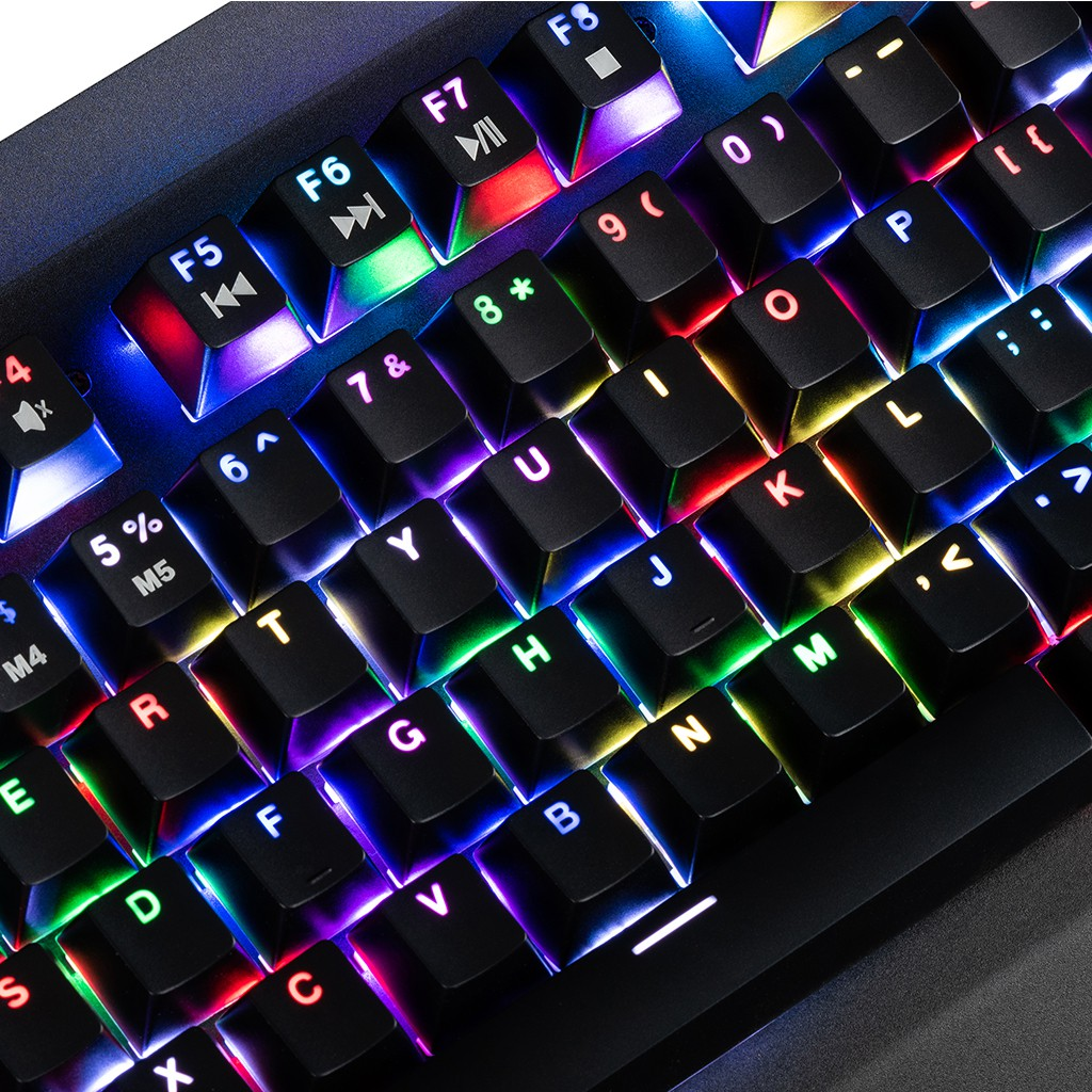 MODECOM VOLCANO HAMMER V2 RGB žaidimų klaviatūra BROWN US