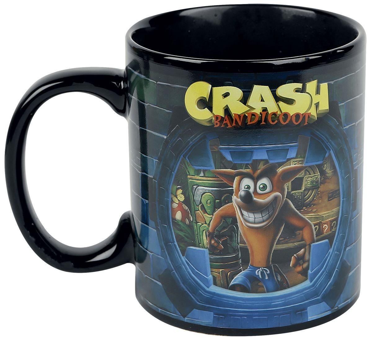 Crash Bandicoot 300 ml  spalvą keičiantis puodukas