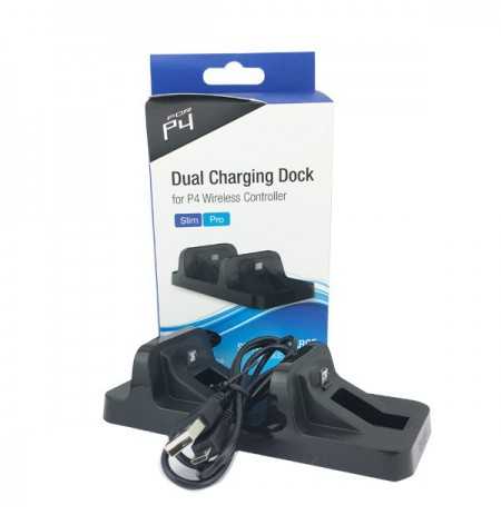 Dualshock 4 juoda įkrovimo stotelė | MicroUsb