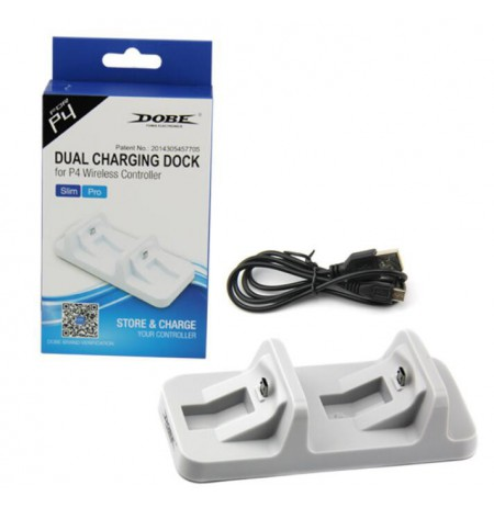 Dualshock 4 CHARGING STATION  WHITE| MicroUsb