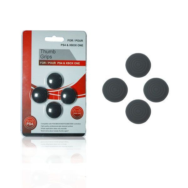 PS4/Xbox One Analog Thumbstick Covers 4pcs/set (Black)