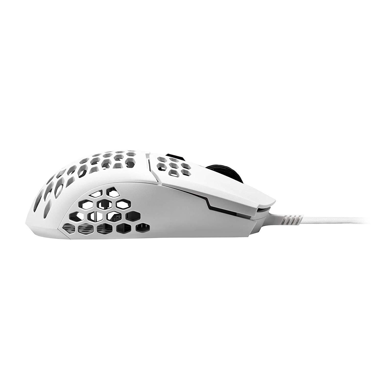 COOLER MASTER MM710 matinė balta laidinė pelė | 16000DPI