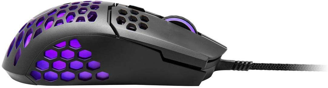 COOLER MASTER MM711 matinė juoda laidinė pelė su RGB | 16000DPI