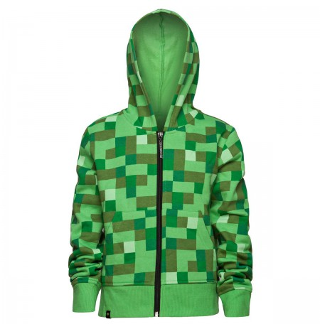 Minecraft Creeper No Face Premium Zip-Up hoodie Youth Medium