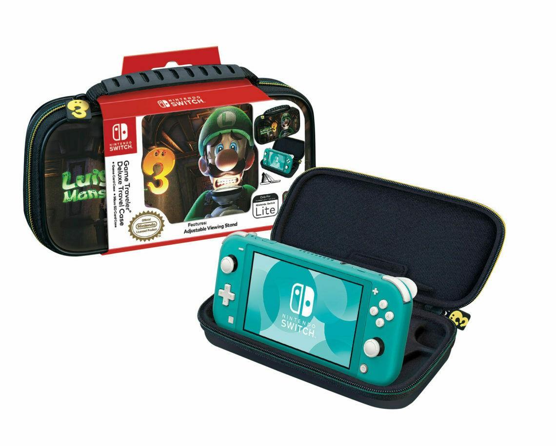 Game Traveler Deluxe Travel Case Lite Luigi's Mansion 3