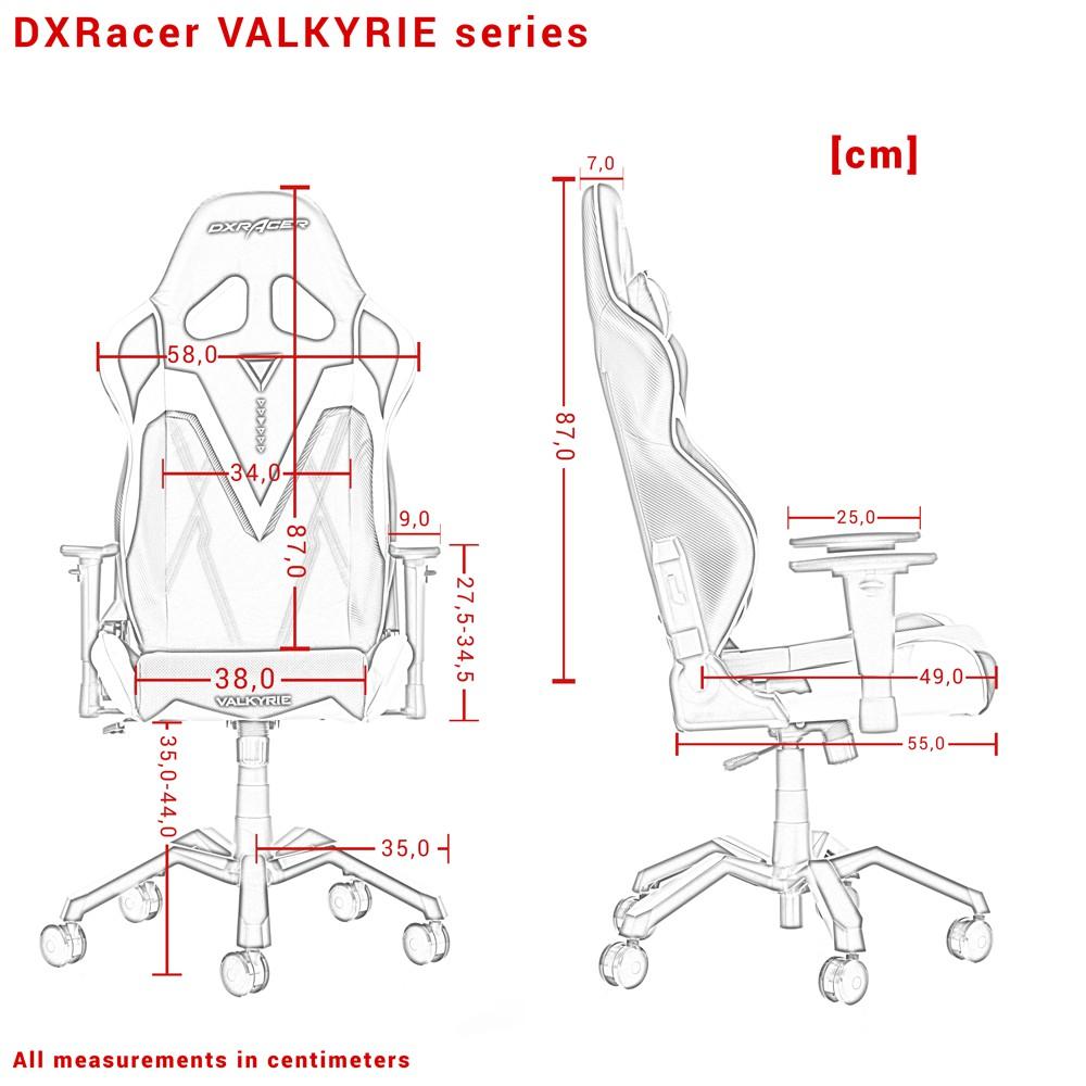 DXRACER VALKYRIE SERIES V03-NR raudona ergonominė kėdė