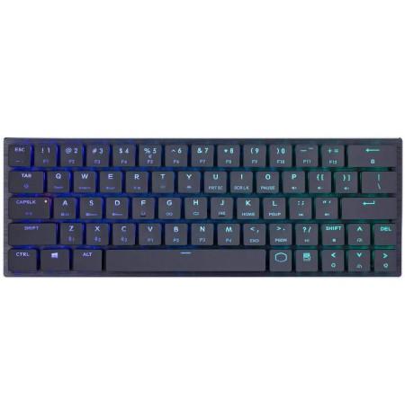 COOLER MASTER MASTERKEYS SK621 mechaninė laidinė RGB klaviatūra | US CHERRY MX RED LOW PROFILE