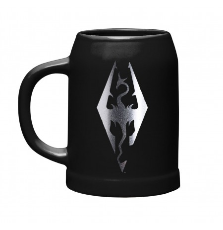 SKYRIM Dragon Symbol Ceramic Stein 600ml