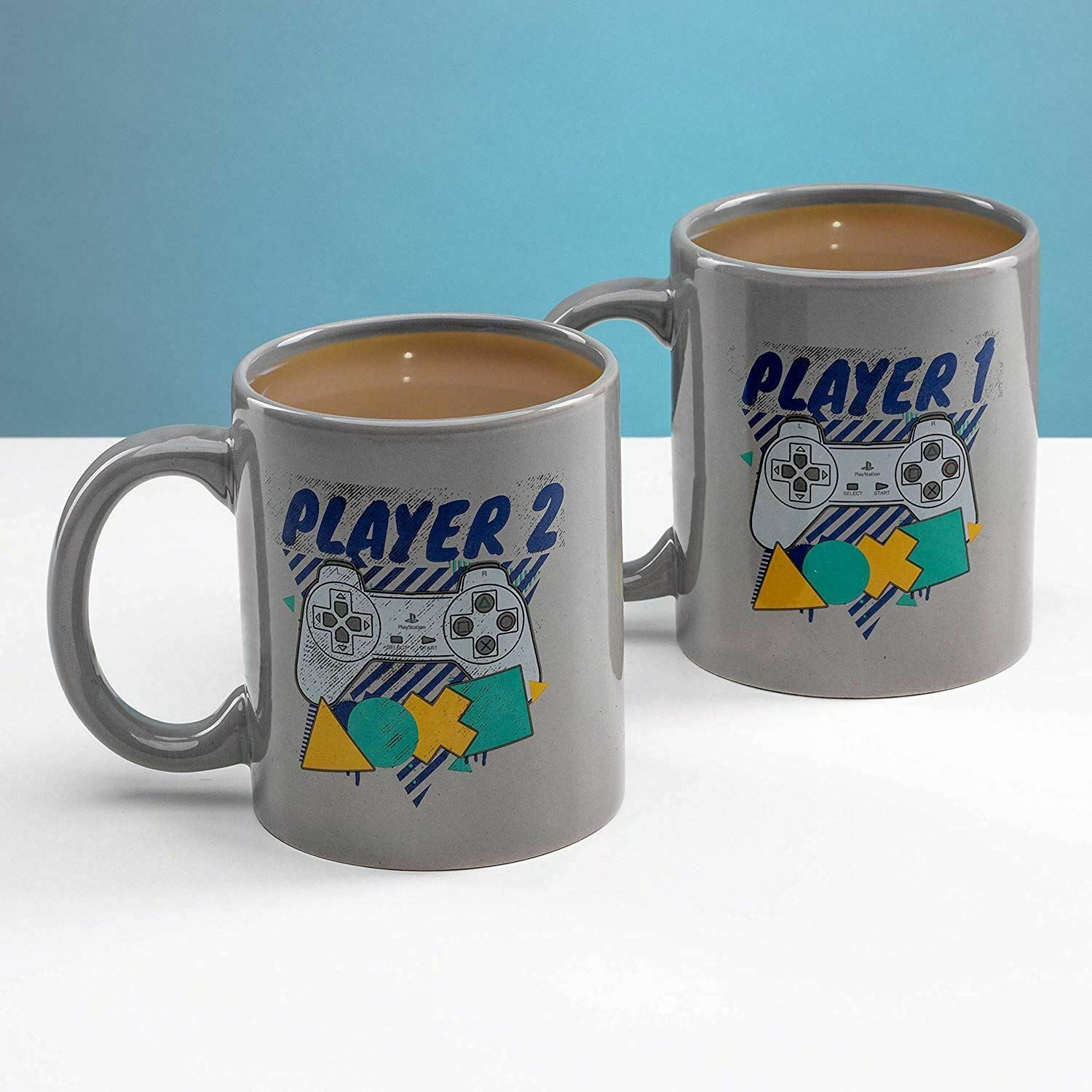 PLAYSTATION - PLAYER ONE AND PLAYER TWO puodukų rinkinys 300ml
