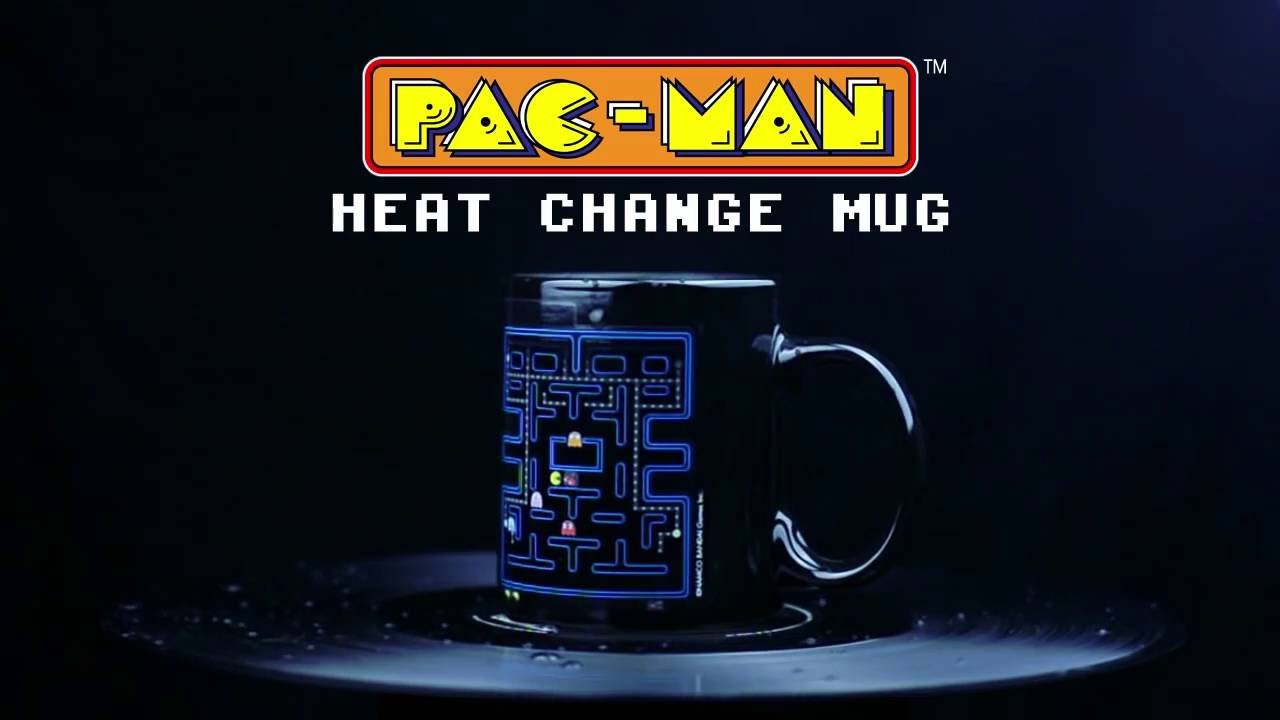 Pac Man V2 spalvą keičiantis puodukas