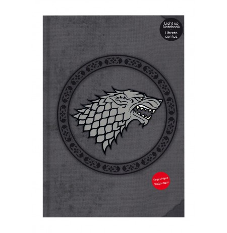 GAME OF THRONES - STARK NOTEBOOK WITH LIGHT