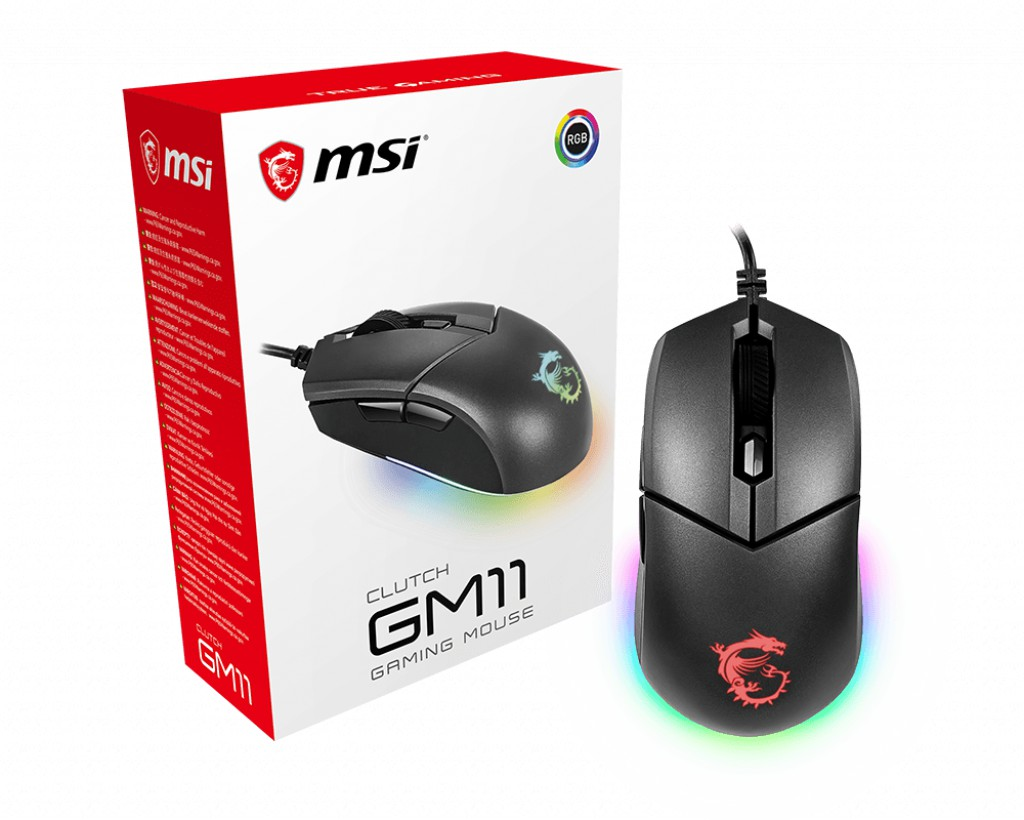 MSI Clutch GM11 laidinė pelė | 5000 DPI