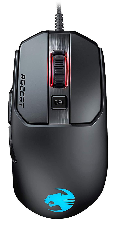 ROCCAT Kain 120 AIMO RGB juoda laidinė pelė | 16000 DPI