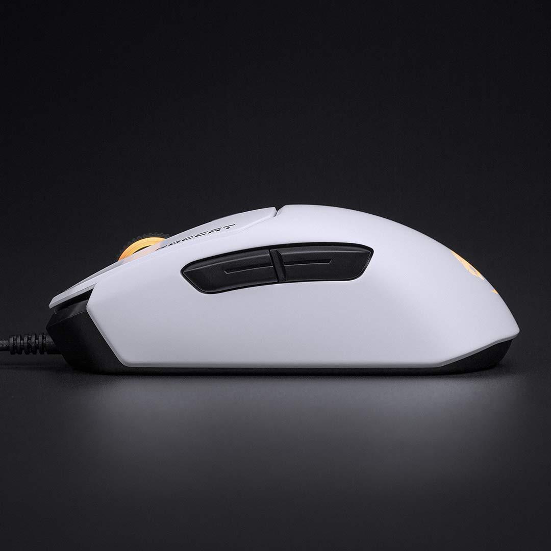 ROCCAT Kain 122 AIMO RGB balta laidinė pelė | 16000 DPI