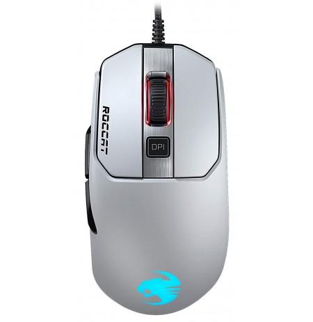 ROCCAT Kain 120 AIMO RGB balta laidinė pelė | 16000 DPI