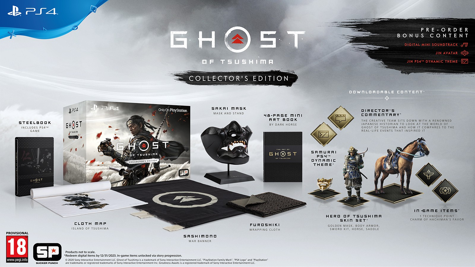 Ghost of Tsushima Collector's Edition + preorder bonus