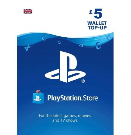 Playstation Network Card 5 GBP  (Jungtinė karalystė)