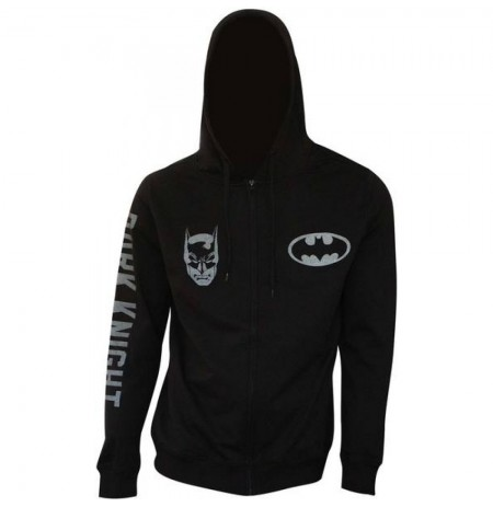 BATMAN LOGO ZIP-UP HOODIE Medium