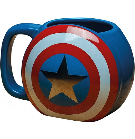 Captain America Shield 3D Mug