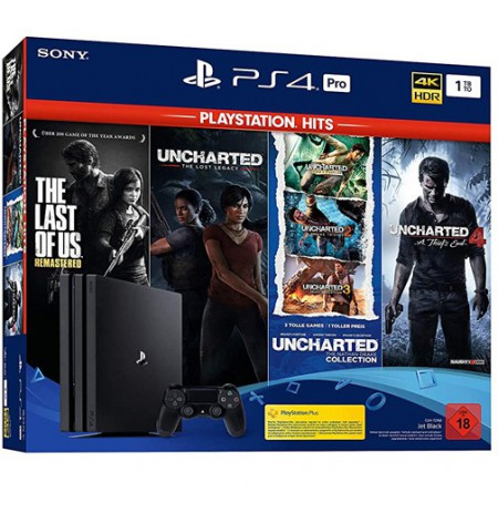 Žaidimų konsolė SONY PlayStation 4 (PS4) PRO 1TB (juoda) + Naughty dog bundle