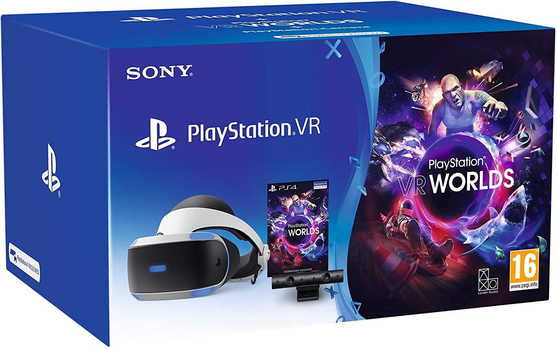 PlayStation VR V2 + CAMERA + VR Worlds game