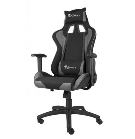 GENESIS NITRO 440 pilka raudona ergonominė kėdė