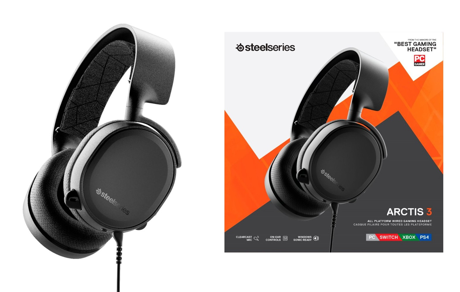 Steelseries Arctis 3 Black (2019 Edition) gaming headset