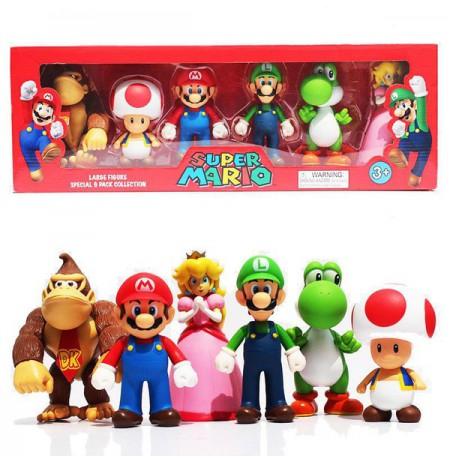 Super Mario large figure special 6 pack statulos | 12cm
