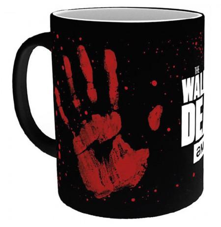 The Walking Dead - Hand Print spalvą keičiantis puodukas