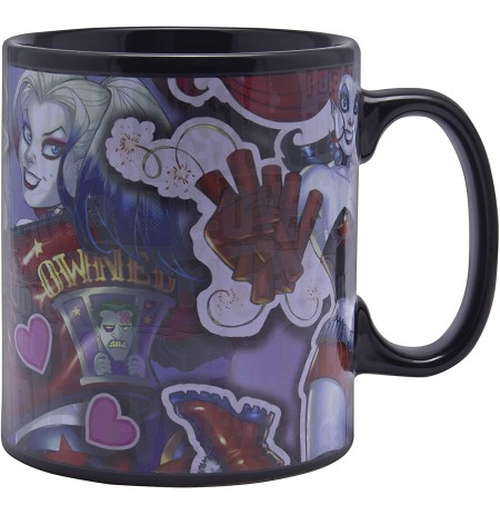 Harley Quinn XL Heat Change Mug  550ml