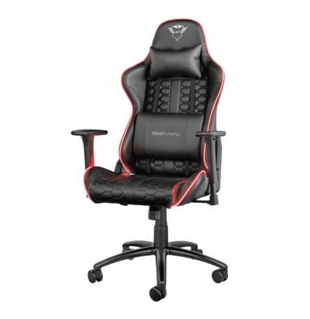 TRUST GXT717 RAYZA RGB LED juoda ergonominė kėdė