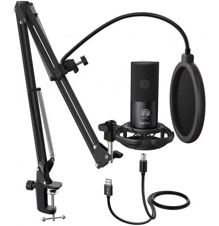 FIFINE T669 laidinis mikrofonas su stovu | USB